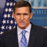 Michael Flynn durante pronunciamento na Casa Branca no dia 1º de fevereiro (Foto: Reuters/Carlos Barria/File Photo)