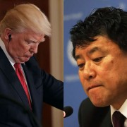 Presidente dos EUA, Donald Trump, e embaixador adjunto da Coreia do Norte na ONU, Kim In Ryong Foto: Montagem / Getty Images